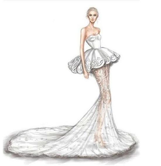 手绘婚纱图片大全 让你深深折服的设计手稿