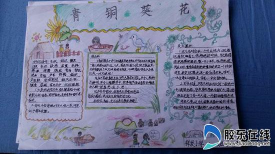 读书手抄报-祥发小学开展 读书伴童年 活动 三月份