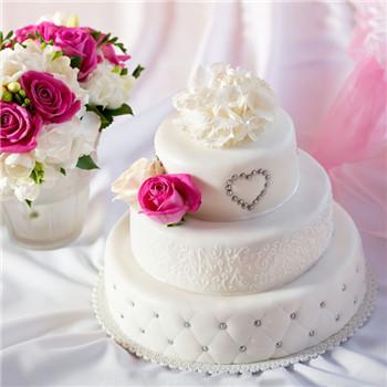 西式婚礼蛋糕图片欣赏 精致典雅的选择