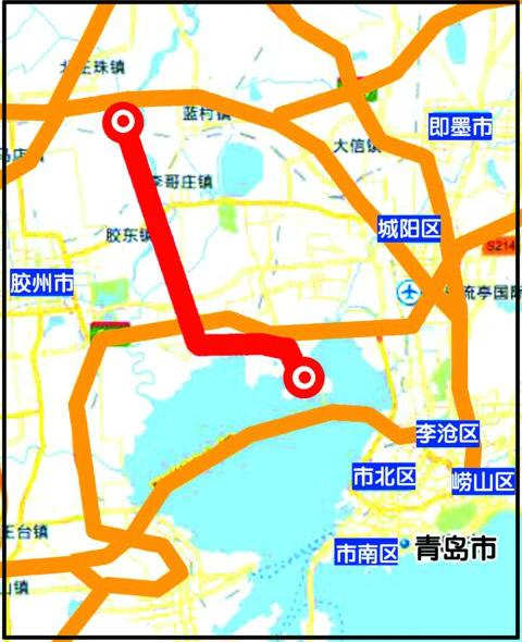 青岛新机场高速年内开工 计划收费期不超25年图片