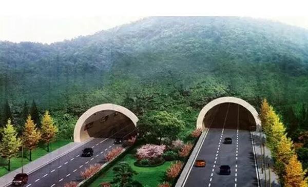 隧道断面为双向六车道(单向两个机动车道,一条非机动车道),总宽度为14