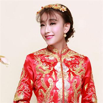秀禾服新娘造型图片 古典的新娘发型推荐