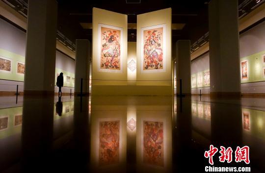 杨柳青古版年画精品亮相中国美术馆添年味(图)