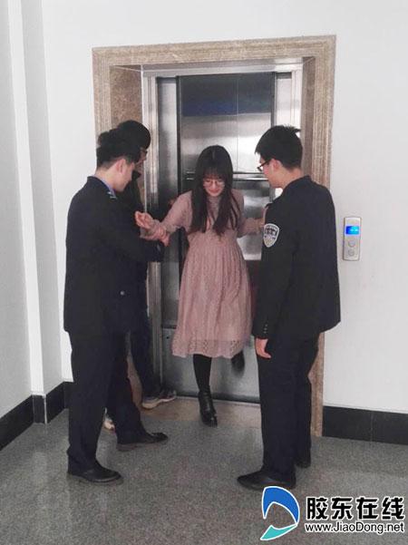 龙口市检察院开展电梯安全事故应急演练