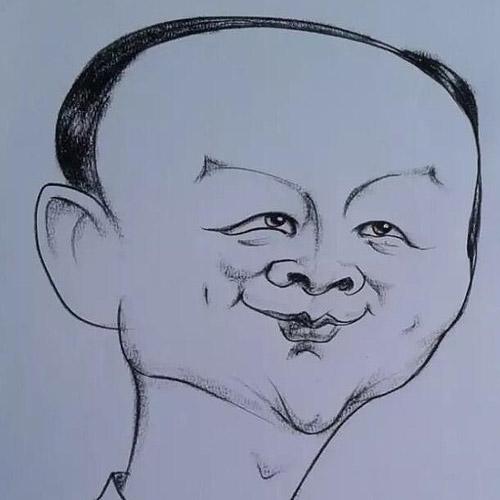 主席的简笔画高清图片