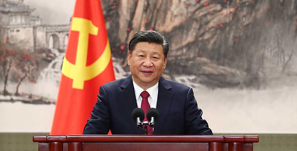 习近平等十九届中央政治局常委与中外记者见面