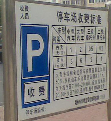 烟台整治市区停车场收费秩序