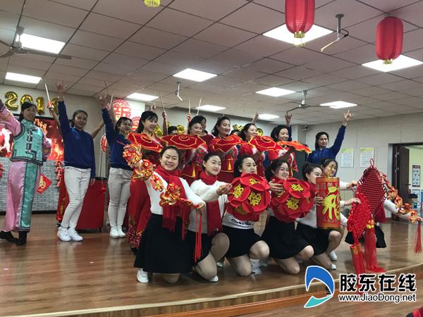 烟台市市级构造幼儿园元旦联欢会讴歌传统文化4