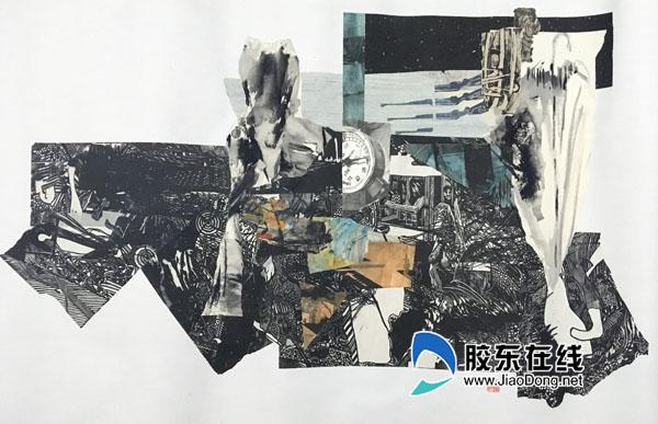 曹润泽 随意情绪 木版版画综合材料 100x60cm