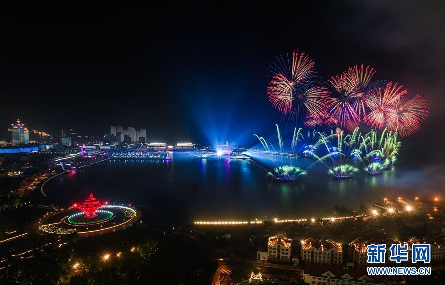 上海合作组织青岛峰会欢迎晚宴及灯光焰火表演侧记