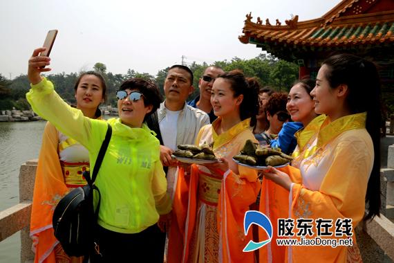 三仙山仙女送粽子