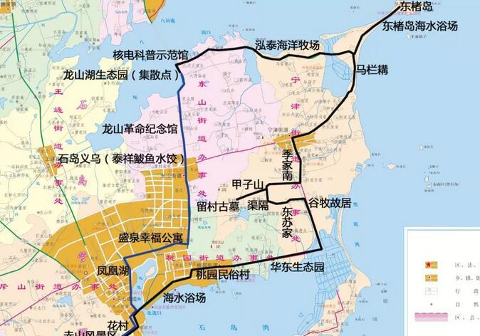 大美石岛开通旅游大巴专线 可直达赤山景区