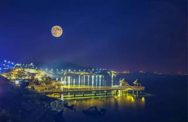 烟台蓬莱夜晚风景图片