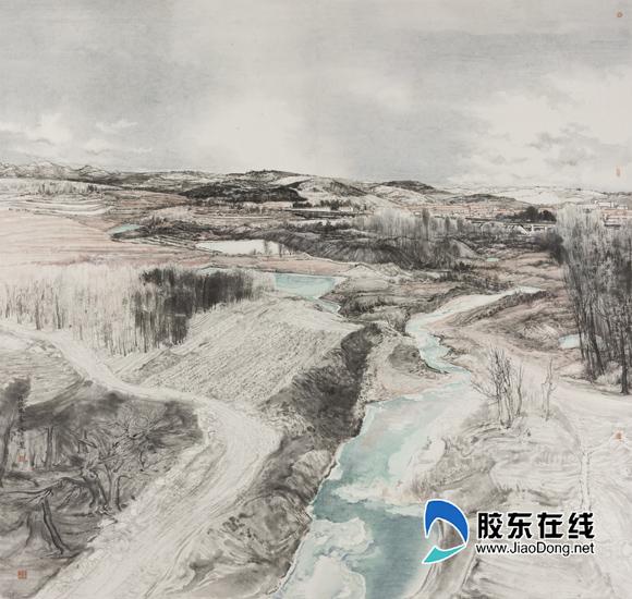 张纯彦《大地回春》中国画180×190cm2018年