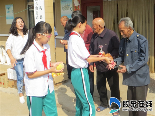 长岛第一实校开展中秋节拥军孝老献爱心活动