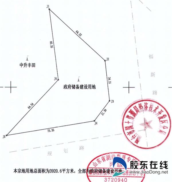 开发区a-54小区勘测定界图