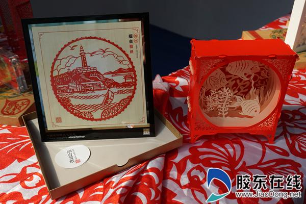富有烟台剪纸特色的创新立体剪纸和剪纸纪念品