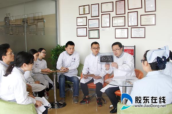 烟台市口腔医院口腔种植科团队共同讨论病例-