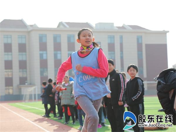 长岛县第一实验学校举办迎新年冬季接力跑比赛1