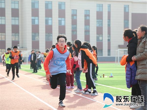 长岛县第一实验学校举办迎新年冬季接力跑比赛2