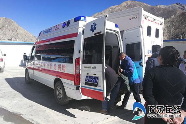 烟台毓璜顶医院捐赠的救护车