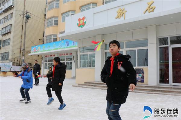 新石路小学举行冬季跳绳踢毽大赛1