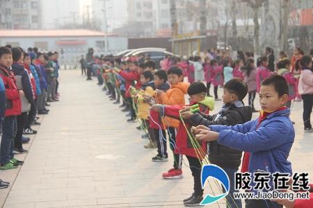 """莱山实小举行""""庆元旦""""跳绳踢毽比赛_副本"""