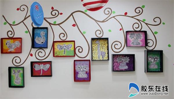 莱山区实验幼儿园教师巧手装扮迎新年
