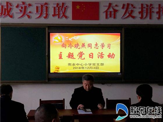 兜余中心小学开展向冷晓燕同志学习主题党日活动_副本