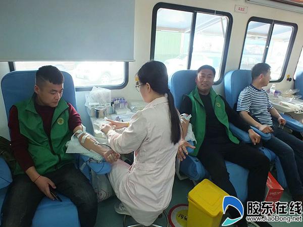 莱阳32位橄榄绿爱心志愿者无偿献血