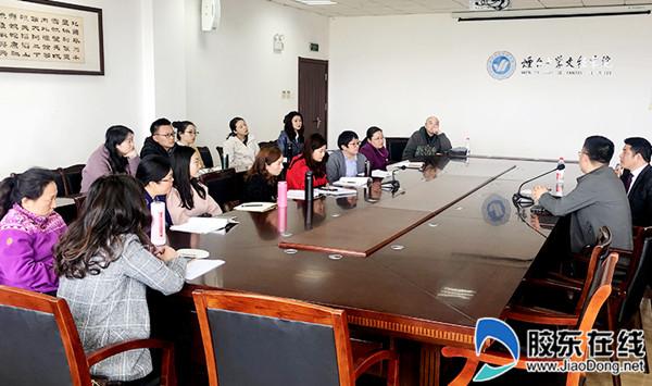 上海对外经贸大学倪受彬教授与青年教师共话教学科研_副本