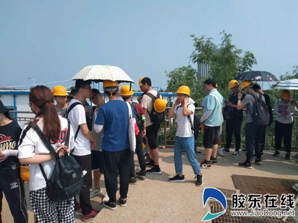 烟台市辛安河污水处理厂迎来烟台大学环境学院学生实习