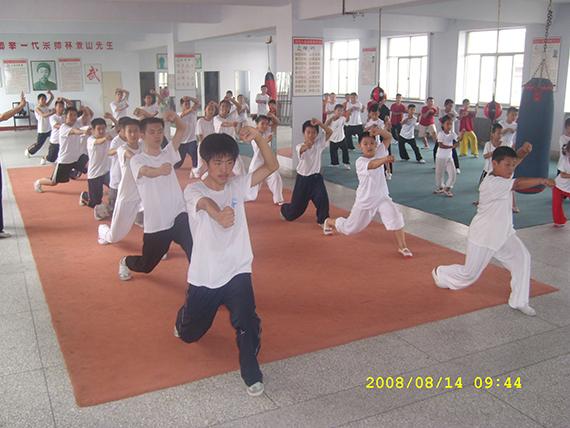 11七星螳螂拳弟子习武中,照片提供:林东柱