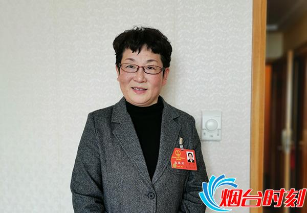 鲁东大学教师教育学院英语老师李卫代表