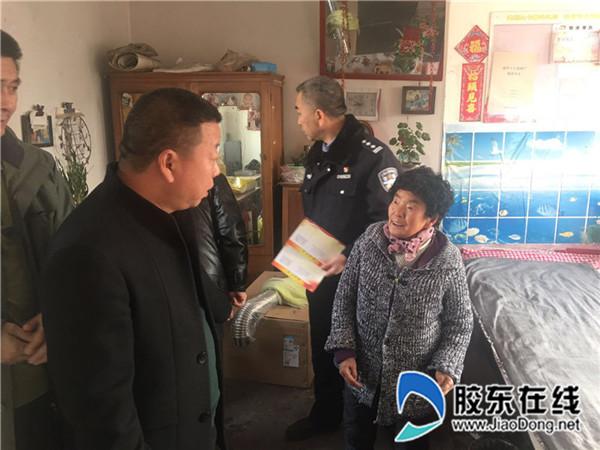 福山交警节前走访慰问辖区贫困群众