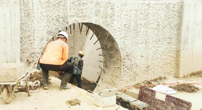 水利工程建设加紧施工