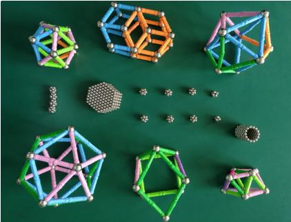 化学小组学生利用磁力球做的结构模型