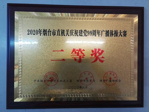 烟台市档案馆获市直机关广播体操大赛二等奖
