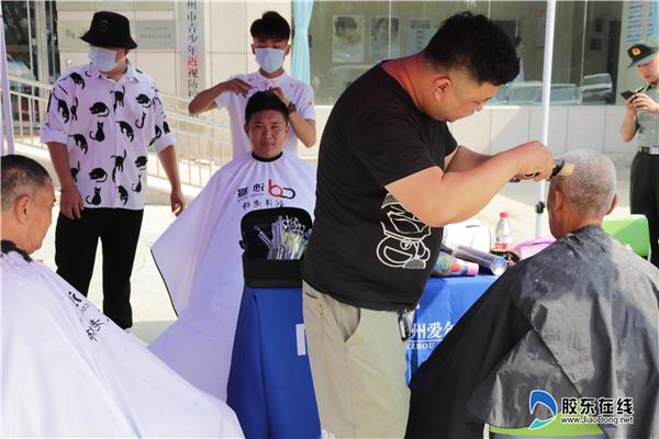 8-3 8月1日上午,联合拥军优抚企业组织一次志愿公益活动