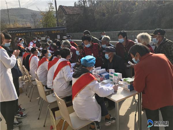 海阳市人民病院、朱吴镇卫生院医疗队到朱吴镇前寨山村义诊