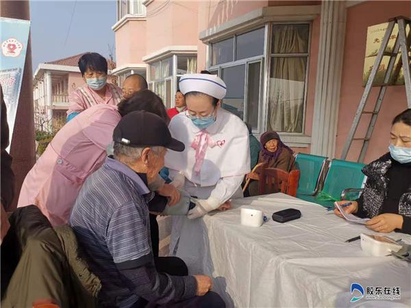 烟台市莱阳中心病院医疗队到莱阳金安达老年公寓义诊