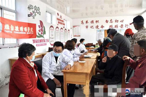 烟台毓璜顶病院医疗队到牟平区龙泉镇邹家庄村义诊